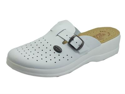 Articolo Fly Flot 63 465 BE Bianco Pantofole in pelle per Donna sottopiede anti-shock