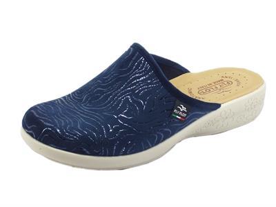Articolo Fly Flot L3 Q95 0B Blu Pantofole per Donna in tessuto nero blu
