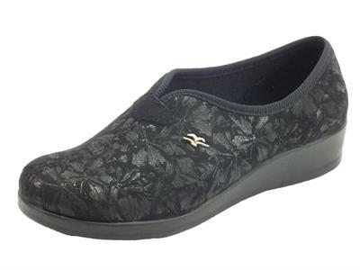 Articolo Fly Flot N3N59 JD Nero Pantofole Donna tessuto nero
