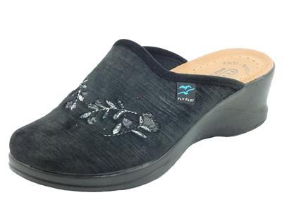 Articolo FlyFlot 96 S76 ZE Nero Pantofole per Donna in tessuto con sottopiede in pelle