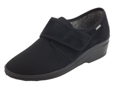 Articolo InBlu 0300003D Nero Pantofole Chiuse per Donna in tessuto regolazione a strappo