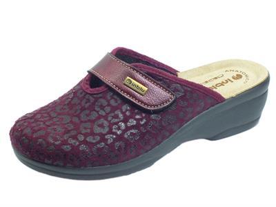 Articolo InBlu BJ000115 Prugna Pantofole per Donna in tessuto satinato con stretch