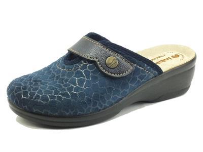 InBlu BJ000125 Blu Pantofole Donna Anatomiche con regolazione a strappo