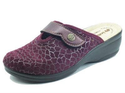 Articolo InBlu BJ000125 Prugna Pantofole per Donna in tessuto con regolazione a strappo