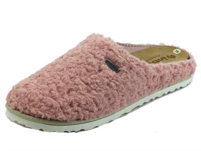 Articolo InBlu CS000033 Rosa Pantofole  per Donna in tessuto effetto lana
