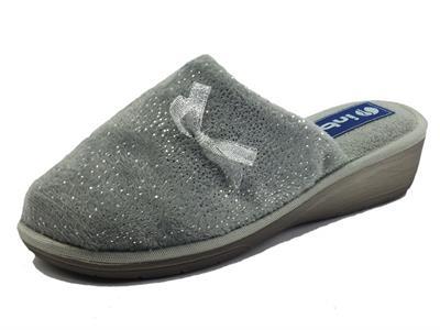 Articolo InBlu DC000021 Grigio Pantofole per Donna in tessuto con brillantini