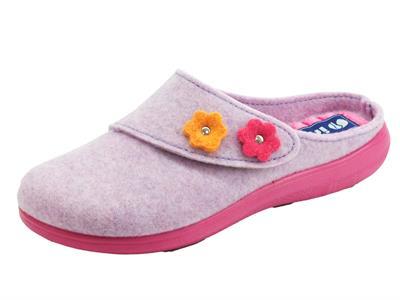Articolo InBlu EC000055 Glicine Pantofole Donna in tessuto con regolazione a strappo