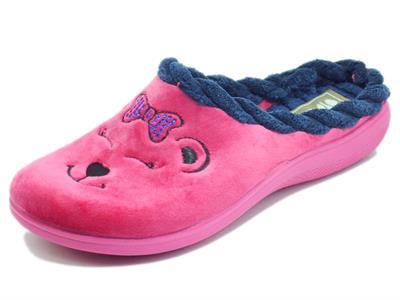 Articolo InBlu EC000064 Fuxia Pantofole per Donna in tessuto fantasia orsetto