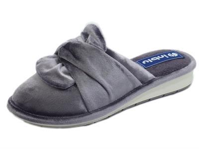 Articolo InBlu LB000085 Grey Pantofole per Donna in tessuto spugna annodato