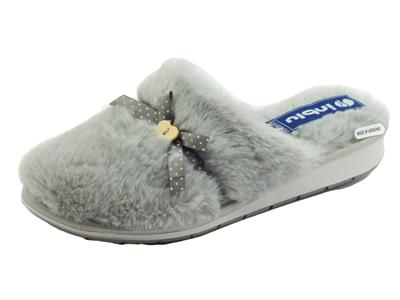 Articolo InBlu LB000091 Grigio Pantofole Donna in ecopellicciotto grigio