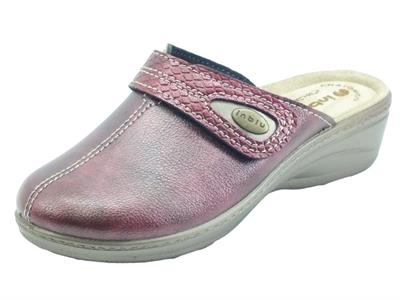 Articolo InBlu Ly000061 Bordeaux Pantofole Donna Anatomiche con regolazione a strappo