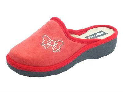 Articolo Melluso PD408F Rosso Lav 53 Gomma Pantofola in spugna rossa per Donna zeppa 4cm