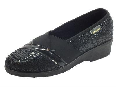 Articolo Pantofole Chiuse Melluso per donna in tessuto nero