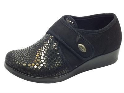 Pantofole chiuse per donna FlyFlot tessuto elaticizzato con strappo
