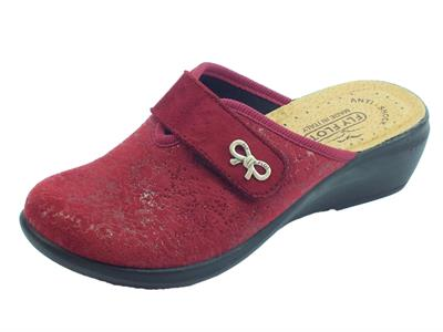 Articolo Pantofole FlyFlot per donna in tessuto elasticizzato bordo regolazione a strappo