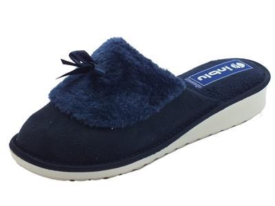 Articolo Pantofole InBlu per donna in pile blu