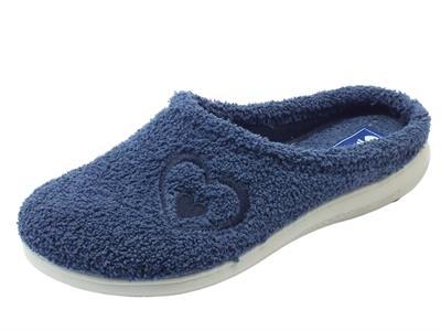 Articolo Pantofole InBlu per donna in spugna blu
