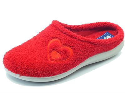 Articolo Pantofole InBlu per donna in spugna rossa