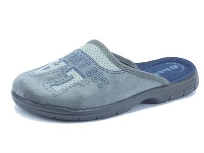 Articolo Pantofole InBlu per donna in tessuto grigio fondo soft anatomico