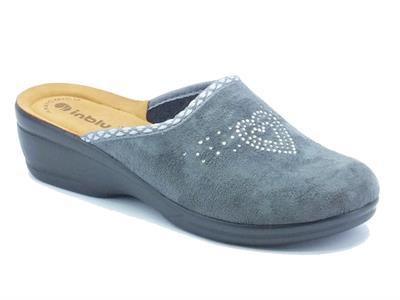 Articolo Pantofole per donna InBlu in tessuto grigio fondo soft anatomico