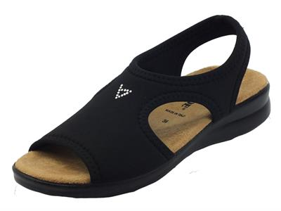Articolo Valleverde 25321 Beige Pantofoline Sandali per Donna in tessuto elasticizzato