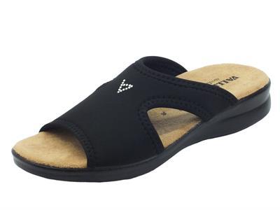 Articolo Valleverde 25321 Nero Pantofoline per Donna in tessuto elasticizzato