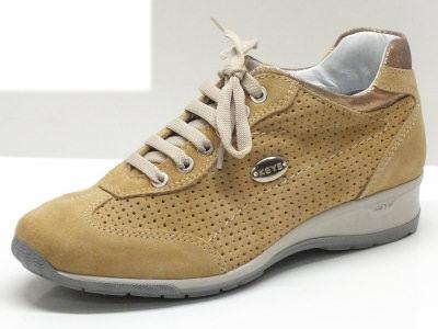 Sneakers Keys per donna in camoscio sabbia