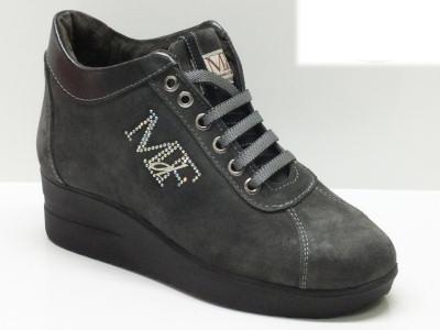 Sneakers Mercante di Fiori grigie con sottopiede estraibile e zeppa