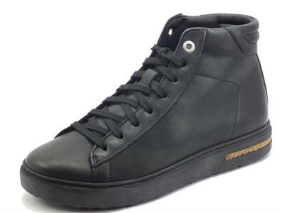 Articolo Birkenstock 1017756 Brend Mid Black Sneakers Donna in pelle nera