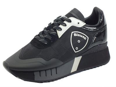 Articolo Blauer USA Myrtle03 Black Sneakers per Donna in tessuto ed ecopelle