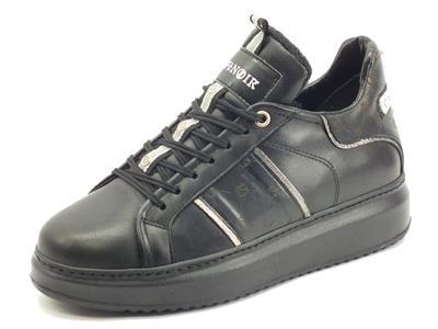 Articolo CafèNOIR DE1411 Nero Sneakers per Donna in pelle zeppa media
