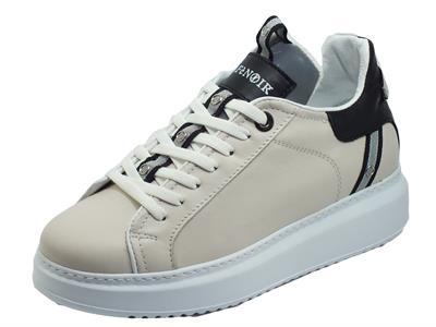 Articolo CAFèNOIR FDE121 199 Panna Sneakers Donna in pelle con zeppa