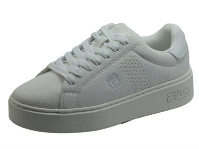 Articolo Fila Crosscourt Altezza F WMN White Sneakers Sportive per Donna in ecopelle effetto squamato