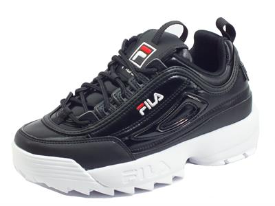 Articolo Fila Disruptor F Low Black Sneakers Sportive Donna in ecopelle zeppa bassa