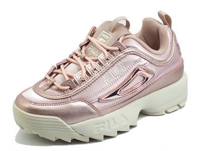 Articolo Fila Disruptor F Low Sepia Rosa Sneakers sportive Donna in ecopelle zeppa bassa