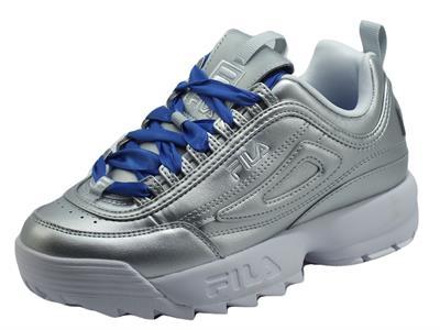 Articolo Fila Disruptor F WMV Silver Sneakers Sportive per Donna in ecopelle argento