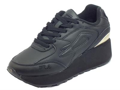 Articolo Fila Doroga Zeppa L Black Black Sneakers sportive Donna in ecopelle zeppa media