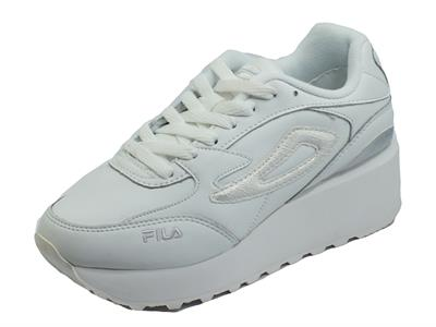 Articolo Fila Doroga Zeppa L White Animal Sneakers sportive Donna in ecopelle zeppa media