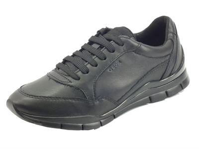 Articolo Geox D04F2A Sukie Black Sneakers per Donna in Pelle nera