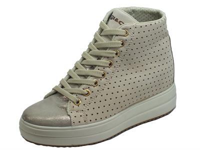Articolo Igi&Co 5159811 Capra Grigio Nabuk Taupe Sneakers Donna zeppa interna alta