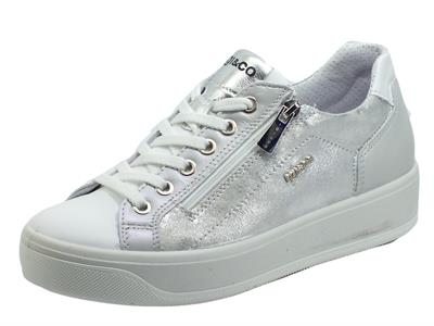 Articolo Igi&Co 7156200 Nappa Soft Bianco Sneakers per Donna in pelle con lacci e lampo