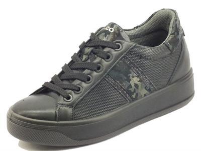 Articolo Igi&Co 8172500 Nappa Soft Nero Sneakers Donna in pelle e tessuto