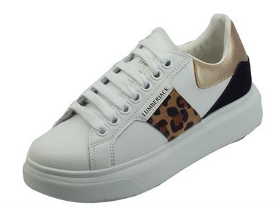 Articolo Lumberjack Juliette SWB6112 White Platino Sneakers per Donna in ecopelle