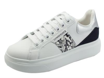 Articolo Lumberjack Juliette SWB6112 White Silver Sneakers Sportiva Donna in eco pelle bianca