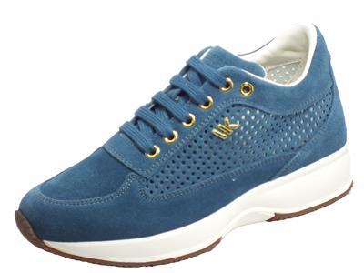 Articolo Lumberjack RAUL SW01305-008 P25 CC003 Blue Sneakers Donna in nabuk traforato zeppa alta
