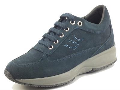 Articolo Lumberjack RAUL SW01305 Navy Blue Sneakers per Donna in nabuk