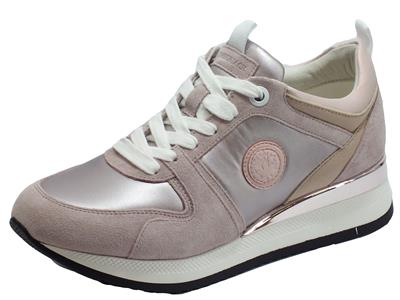 Lumberjack SW84312-001 Y27 CH015 Violet Ice Sneakers per Donna in camoscio e tessuto rosa