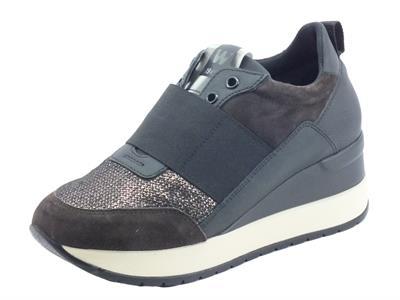 Articolo Melluso Walk R25535 Marika P Bronzo Sneakers Donna in pelle e zeppa interna