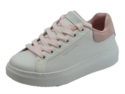 Articolo Skechers Los Angeles Hight Street Sneakers per donna bianco e rosa