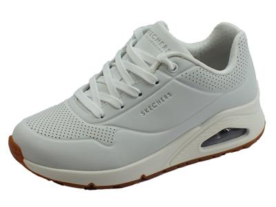 Skechers Los Angeles Street Stand on Air Sneakers sportive per donna bianche